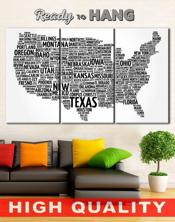 Usa Map Collage Word Map US State Map Black And White Map USA - Us word map illionis