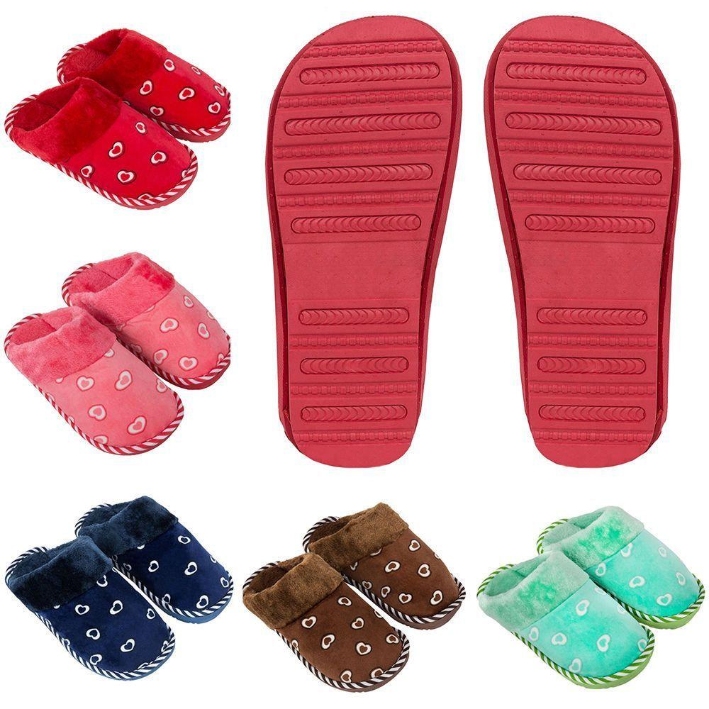 Mens Leather Bedroom Slippers Details About Size 6 65 Men Women Cosmo Heart Soft Fleece Bedroom