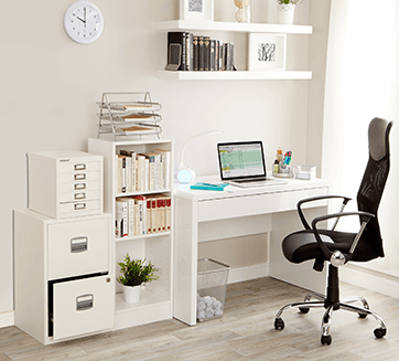 container storeu0027s one desk with endless is with the use of two bisley units