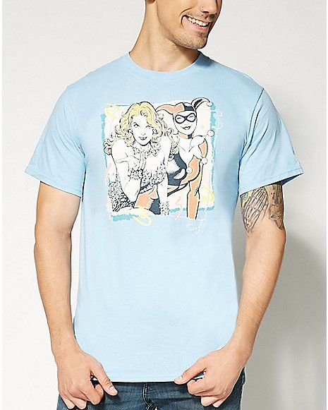 Harley Quinn and Poison Ivy DC Comics  T shirt - Spencer's