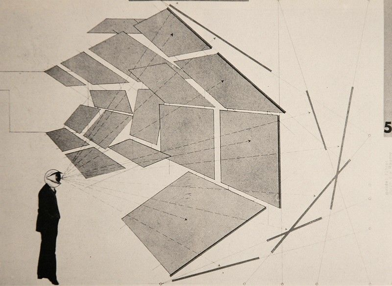 Herbert Bayer Drawing For The Architecture Photo Show In Perspective And Section Das Kunstlerische Werk Herbert Bayer Diagram Architecture Speculative Design