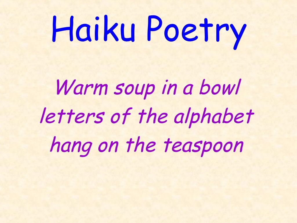 Haiku Poetry Ppt