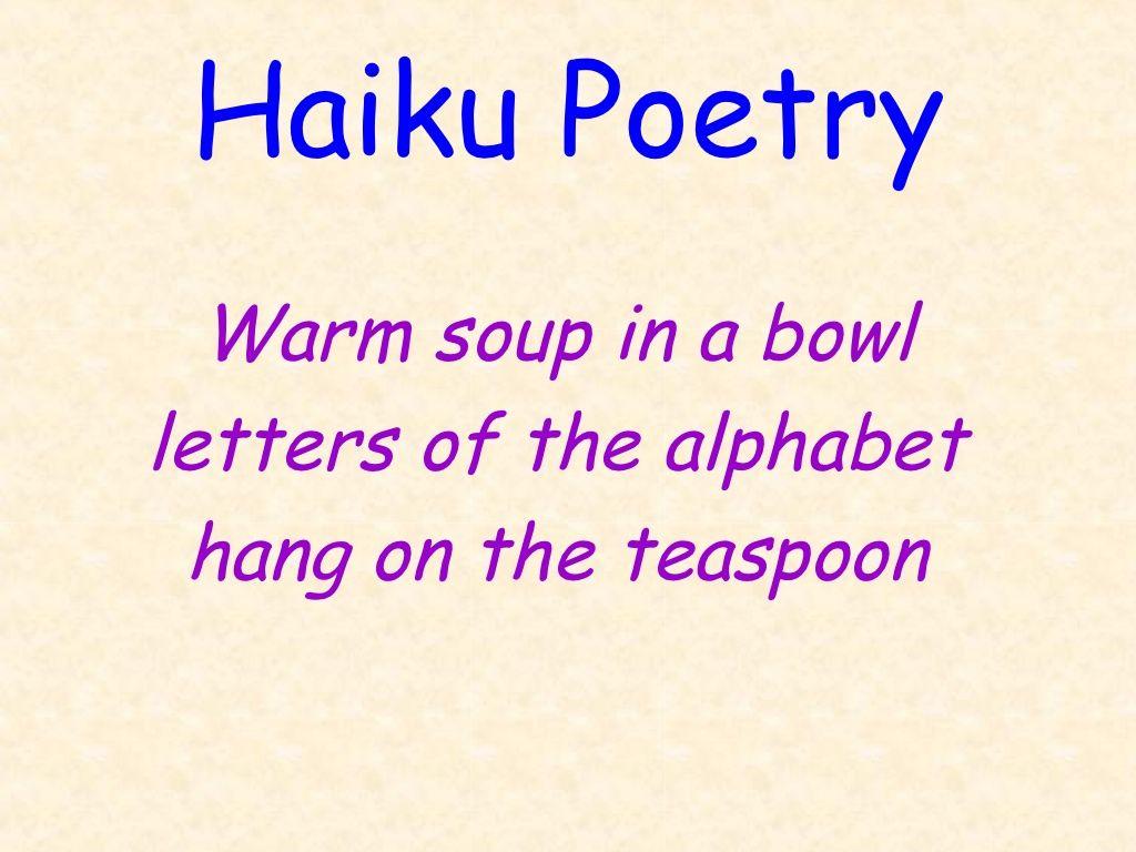 how to remember a haiku