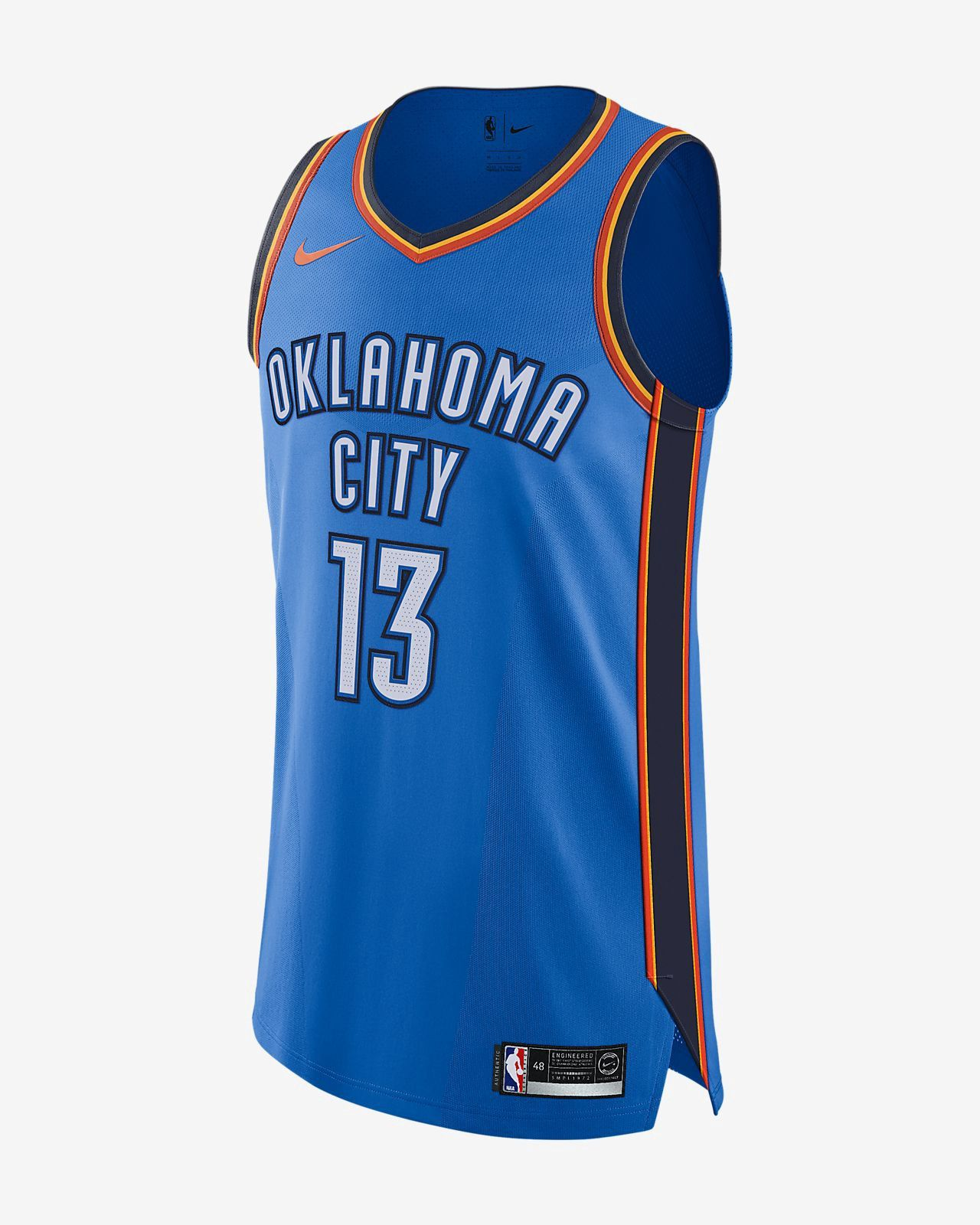 new arrival 3c1c0 5d082 Nike Paul George Icon Edition Authentic Jersey (Oklahoma ...