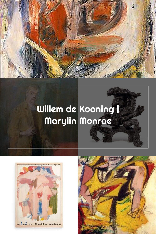 Willem De Kooning Marylin Monroe