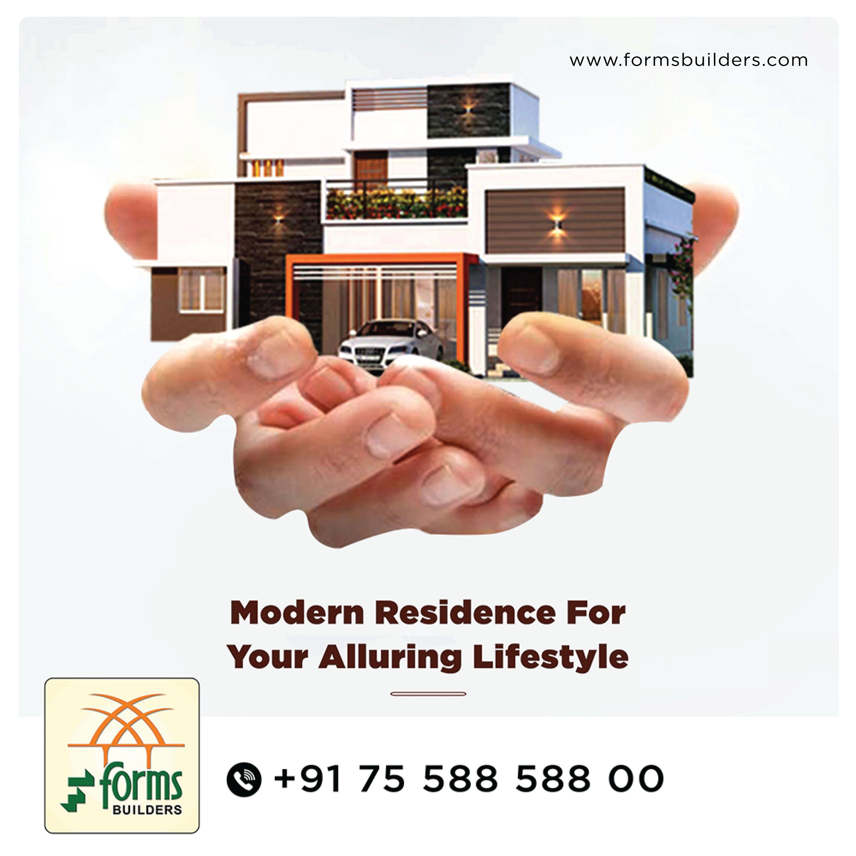 Modern Residence For Your Alluring Lifestyle Villaprojectsinthrissur Readytooccupyvillasinthrissur Bestvillabu Luxury Villa Modern Form Builder