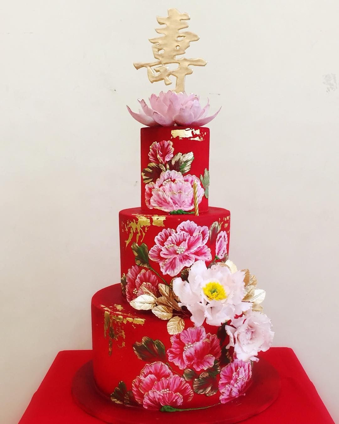 Happy 93rd Birthday Grandma Cakesbymannix Cakesforallocassions Customcakes Aintcakesgrand Cbmcak Red Birthday Cakes 70th Birthday Cake Dad Birthday Cakes