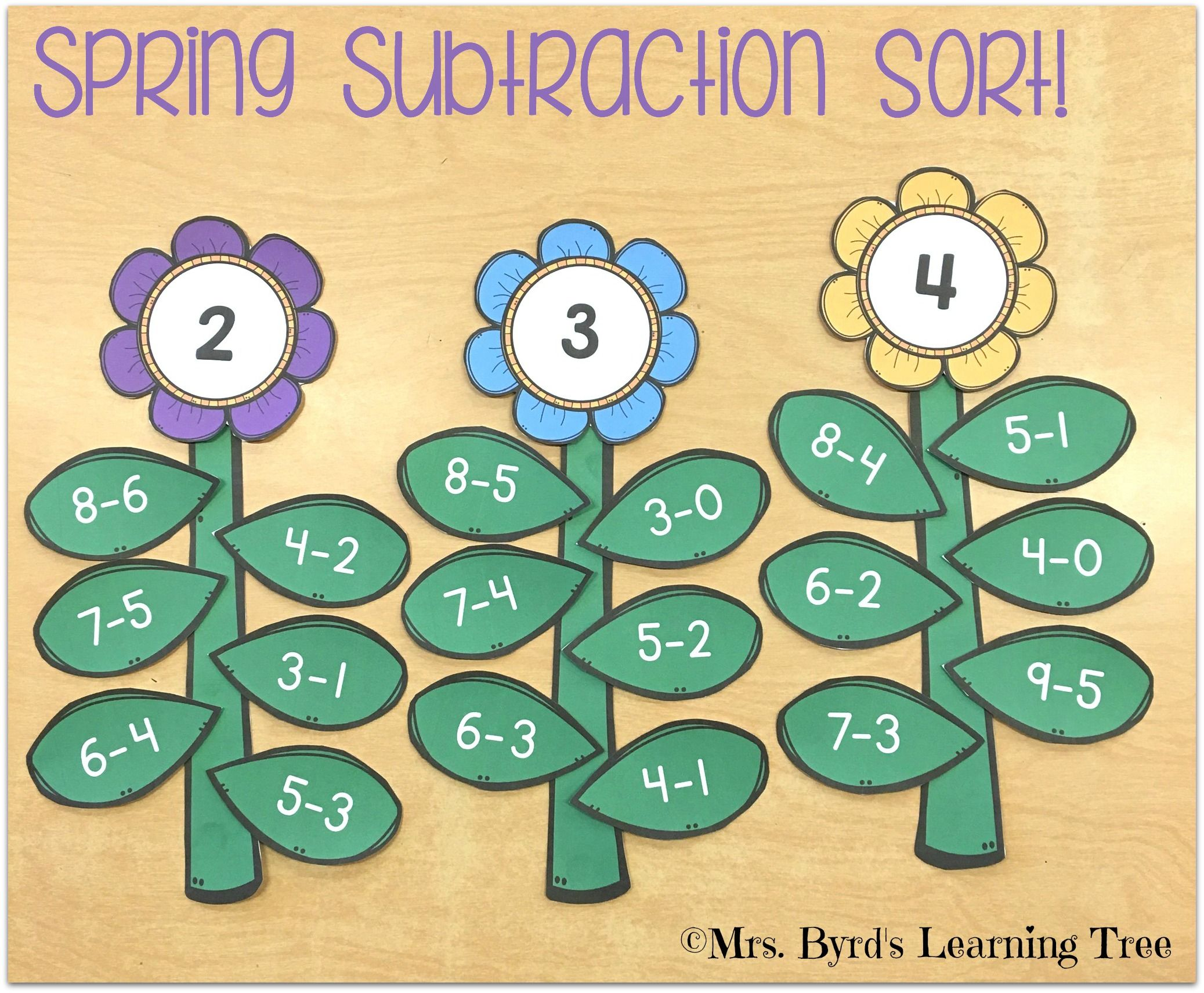 Spring Flower Subtraction Sort