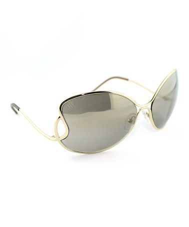 Take a look at this FENDI Gold Infinity Butterfly Sunglasses by FENDI on #zulily today!