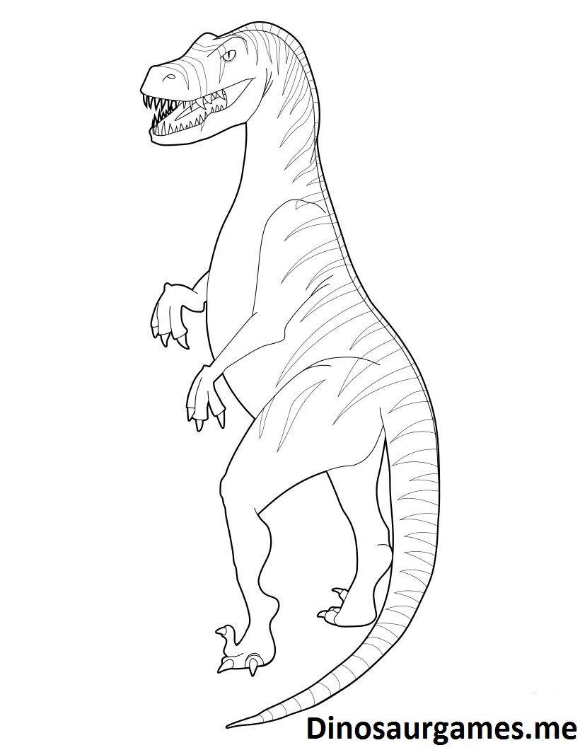 Baryonyx Coloring Page Colouring Pages Dinosaur Jurassic World