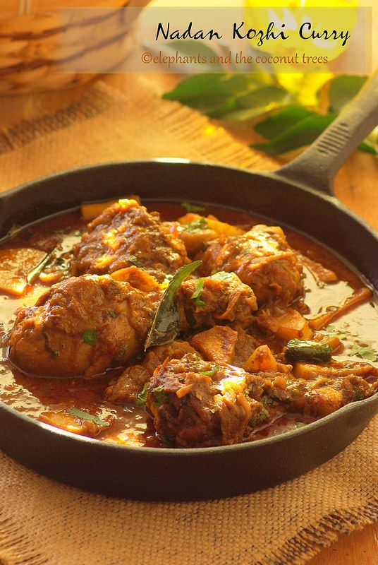 Nadan Kozhi Curry Kerala Style Chicken Curry With Potato Elephants And The Coconut Trees Curry Chicken Recipes Curry Chicken Chicken And Potato Curry