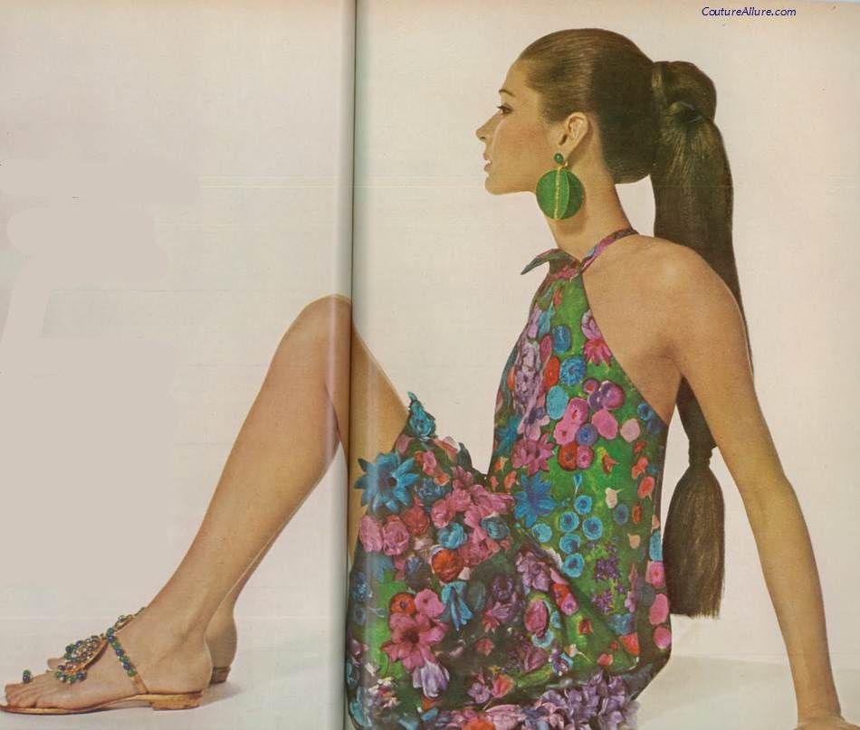 Dress by Pauline Trigere, 1966.
