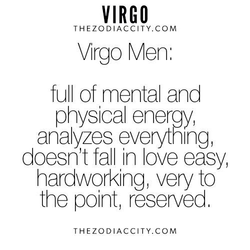 Virgo Man Table of Contents