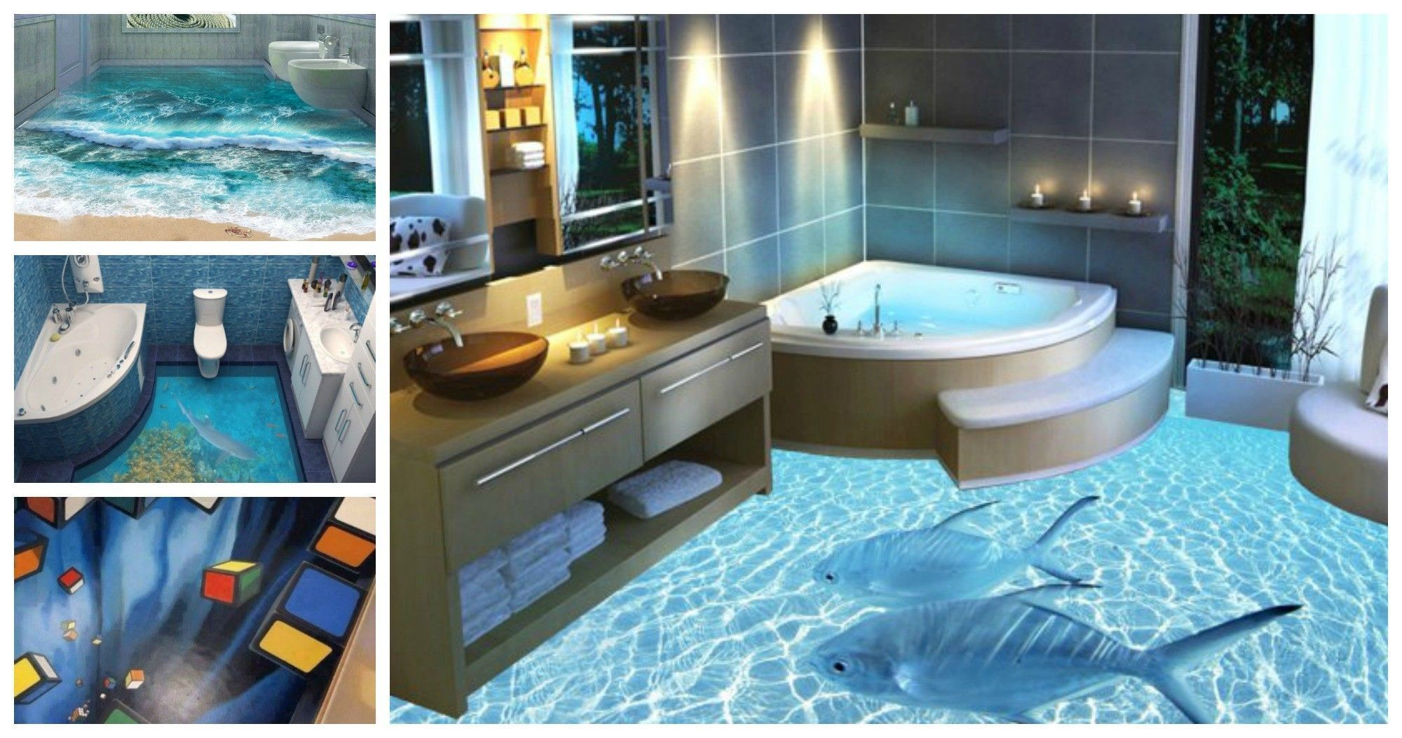 unique 3d bathroom floors model bathroom design ideas