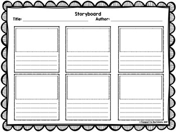 Storyboard Template Storyboard Template Storyboard Any Book