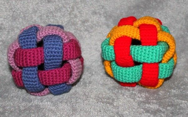 Greifling Kunterbunter Ball Häkelanleitung Häkeln Pinterest