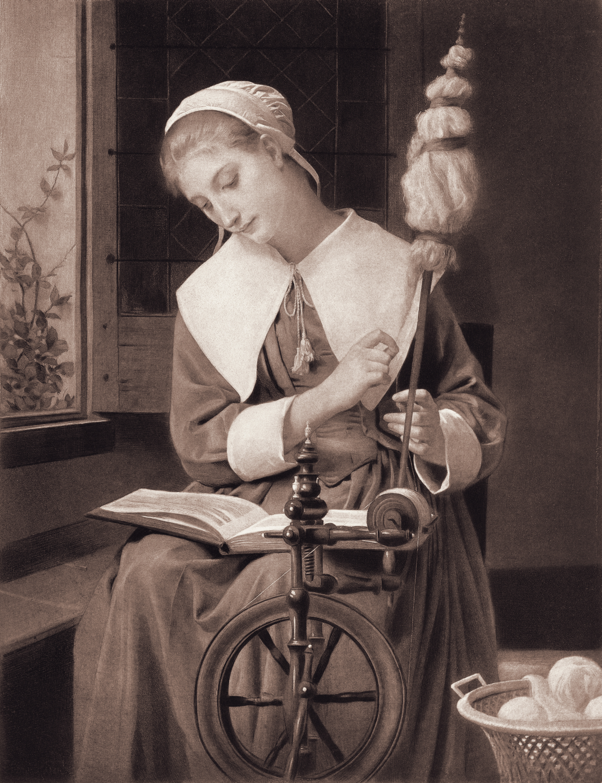 Colonial Women at Work: Images and History | Spinning yarn