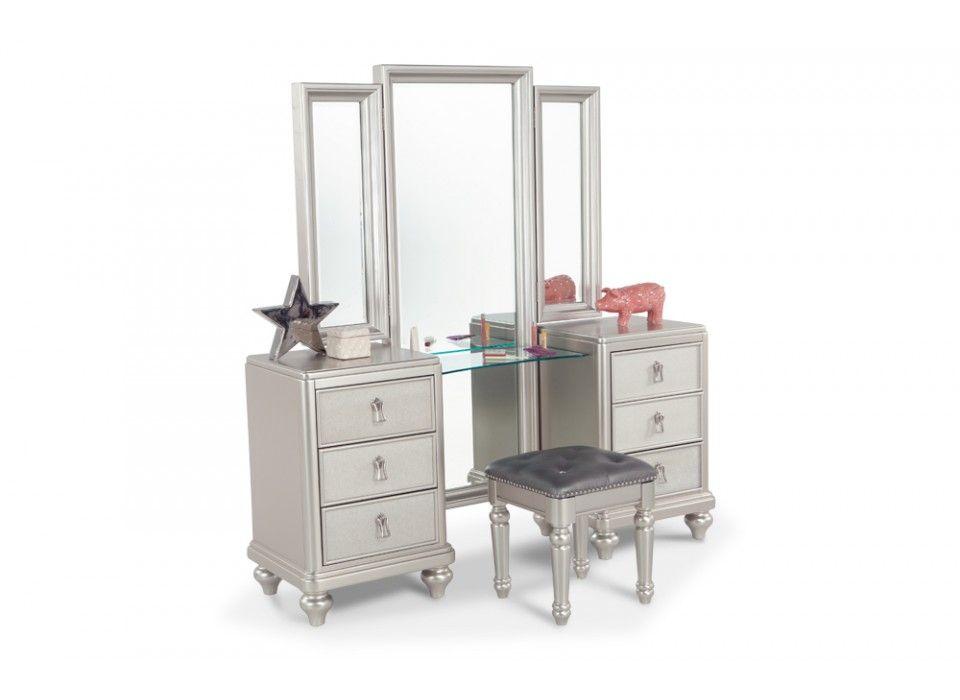 Vanity Dresser Mirror Hidden Storage