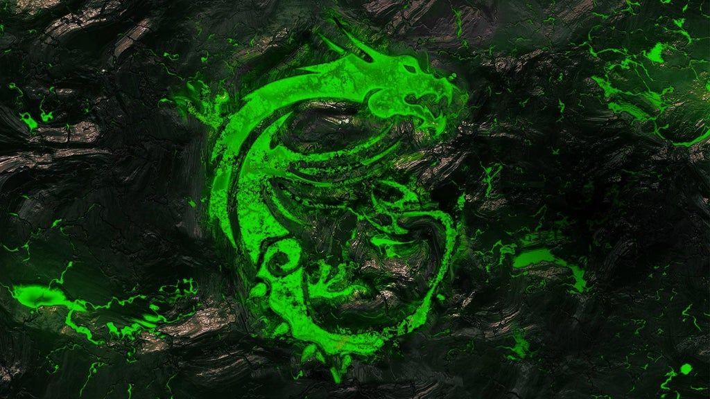 Green Dragon Wallpaper 1920×1080