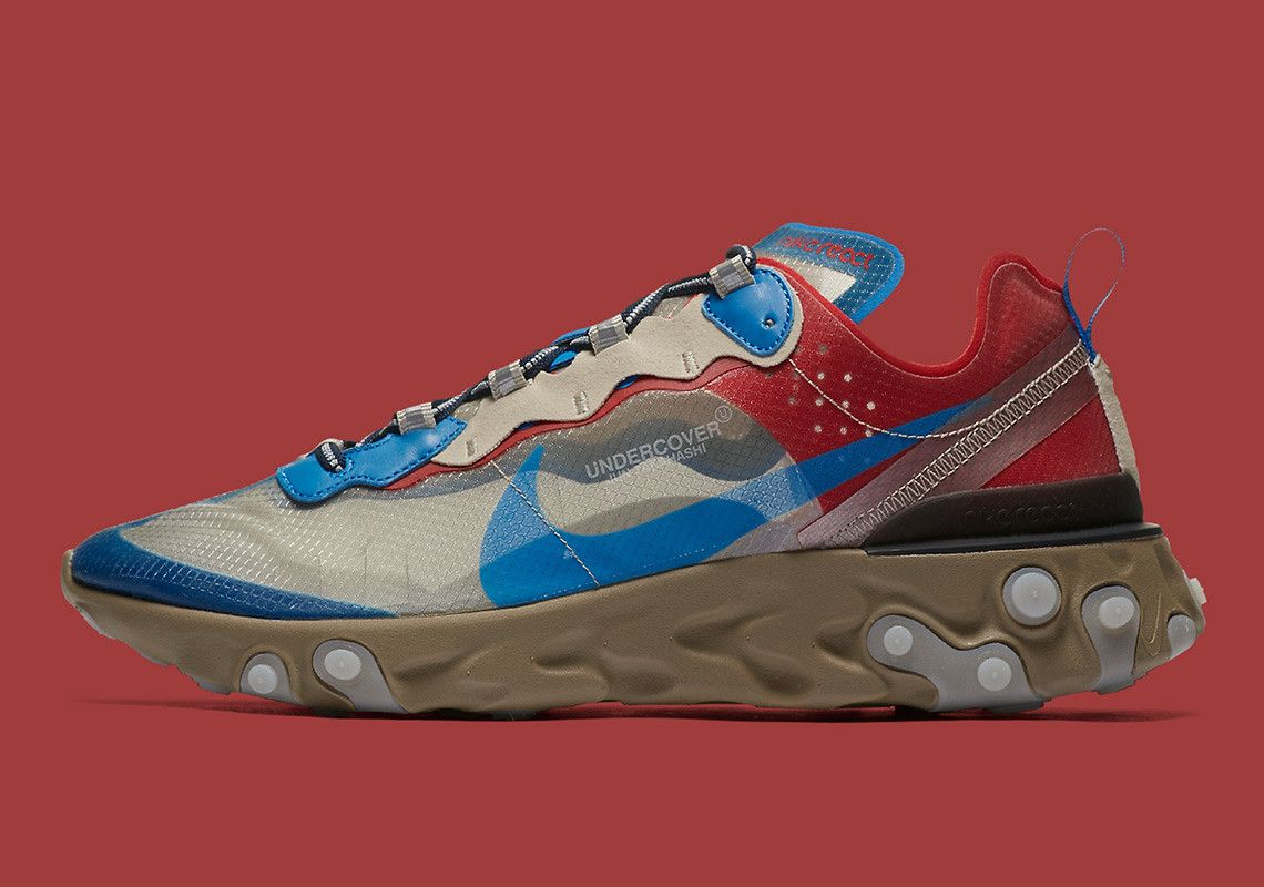 best sneakers c8028 aaf3c Official Store List For The UNDERCOVER x Nike React Element 87