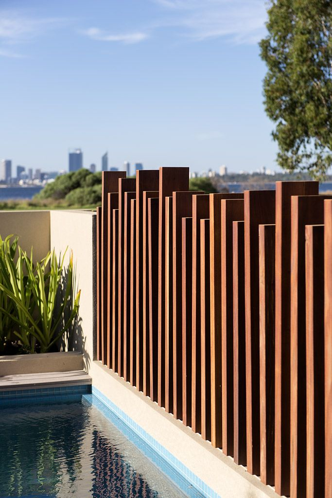 Add interest to any fencing with different levels for Pool and garden show perth