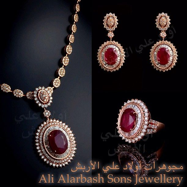 Instagram Photo By Ali Alarbash Sons Jewellery Dec 24 2012 At 10 10am Utc Bridesmaid Jewelry Sets Gold Necklace Designs Bridal Jewelry