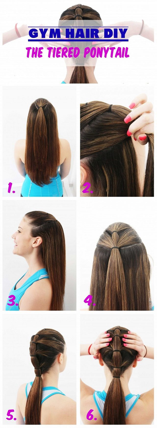 Quick and easy gym hair gym hair gym and easy