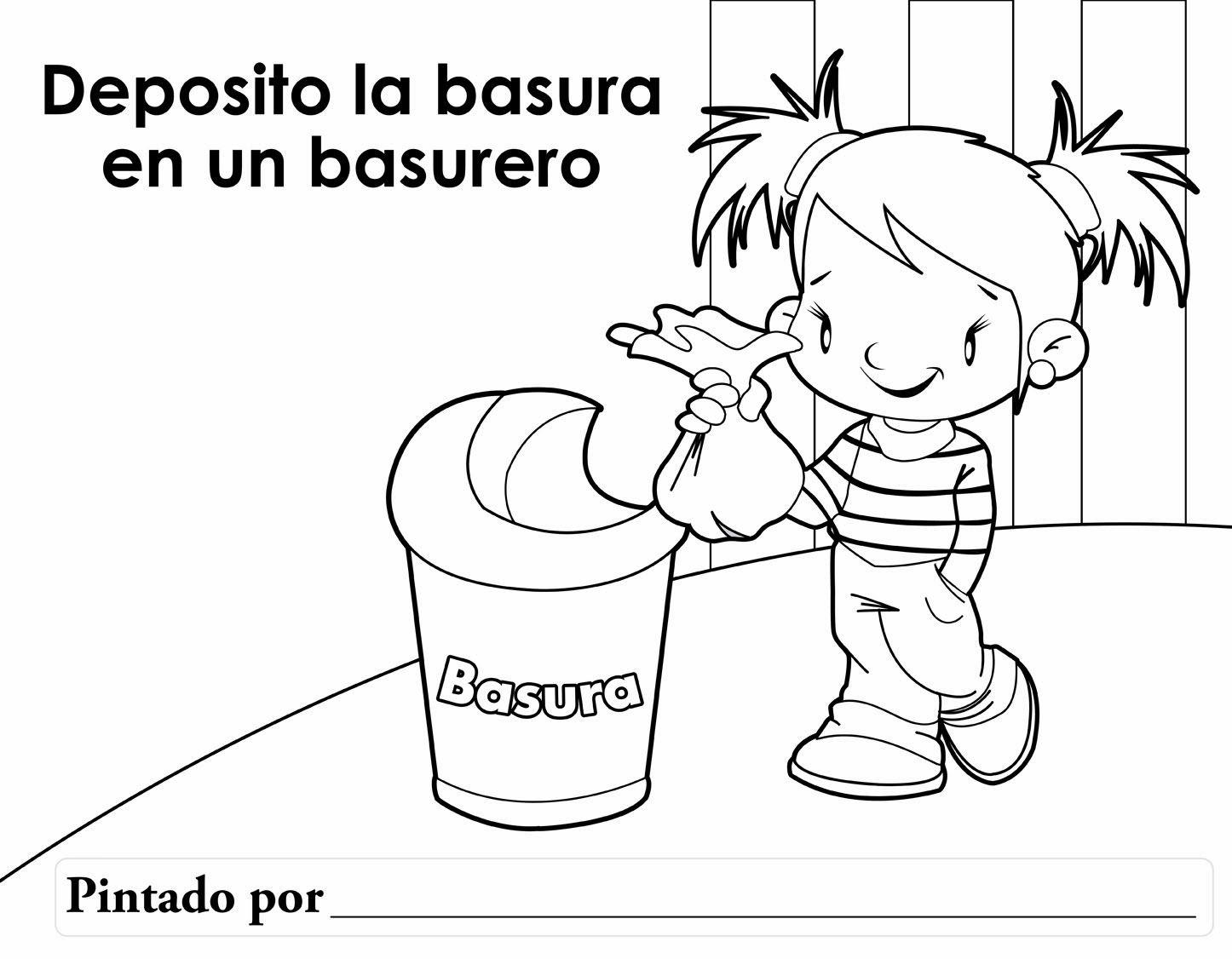 Preescolar Higiene Personal Dibujos De Los Valores Medio Ambiente Para Colorear Medio Ambiente Dibujo