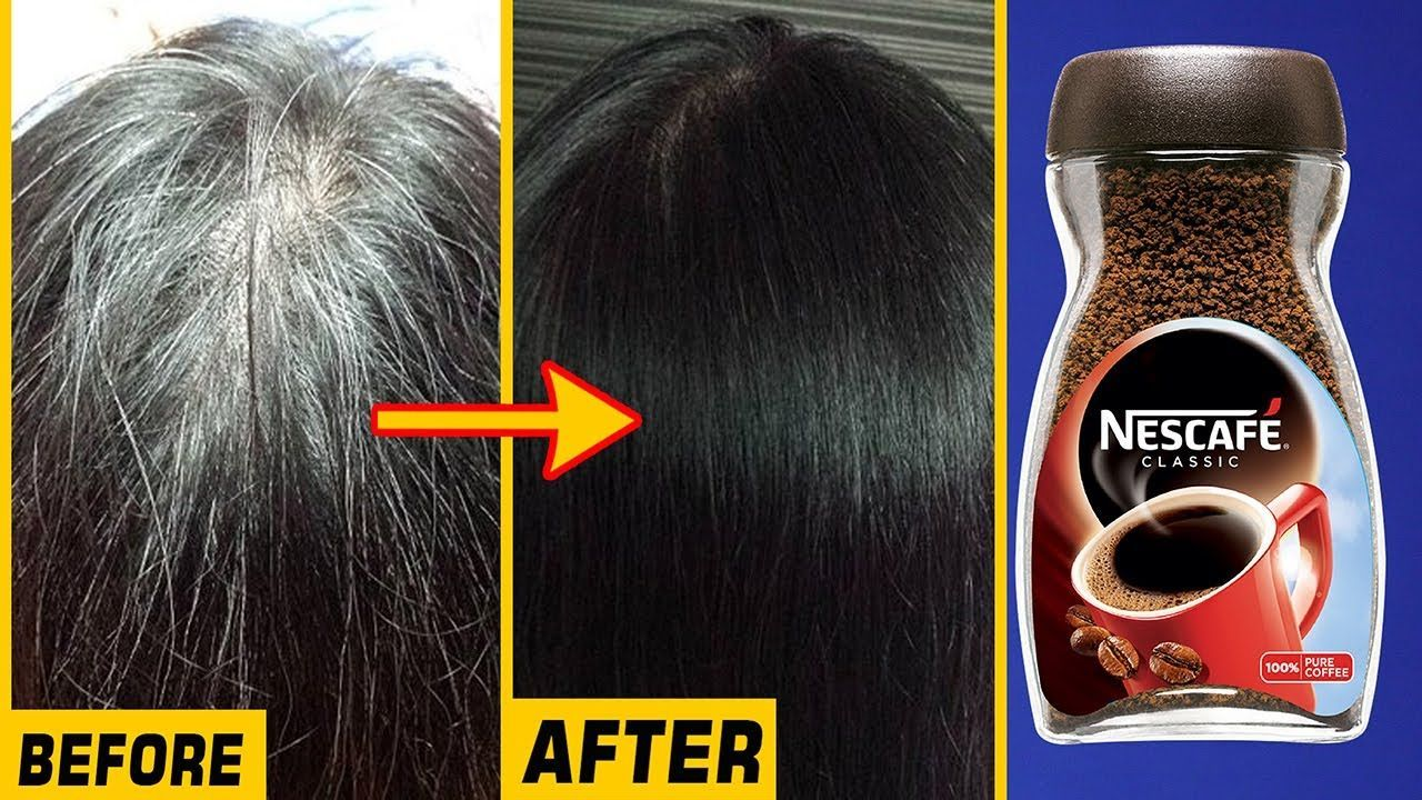 White Hair To Black Permanently In 40 Minutes Naturally Coffee For Jet Black At Home 100 In 2020 Coffee Hair Dye Coffee Hair White Hair