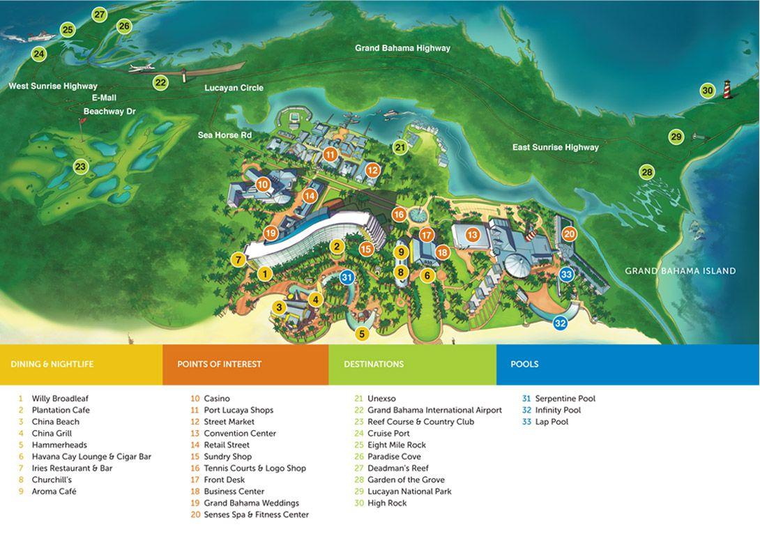 View Grand Lucayan Resort Map | Bahama Vacay | Pinterest | Resorts