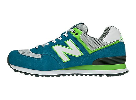 Yacht Club 574, Teal with Lime Green & White