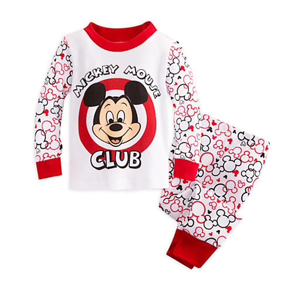 3464bc821579 Disney Store Baby Boys  Mickey Mouse PJ Pals Pajama Sleepwear Set ...
