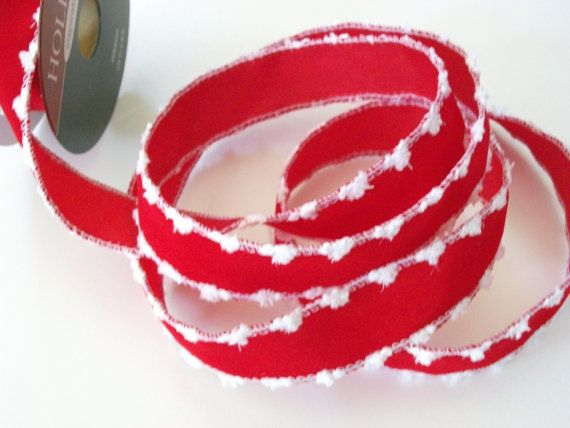 RibbonBy The SpoolRed with White Fuzzies on by mightymadgescloset, $2.90