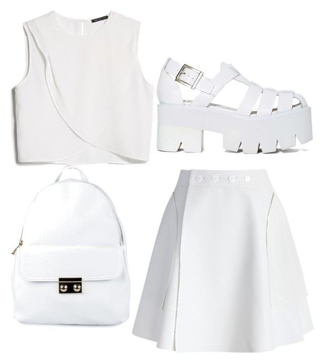 """""""Untitled #18"""" by byooo ❤ liked on Polyvore featuring moda, MANGO, Chicwish, Jeffrey Campbell e NLY Accessories"""