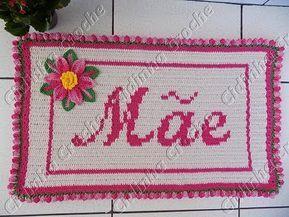 Cidinha Croche : Tapete Em Croche - Mãe Passo A Pa...