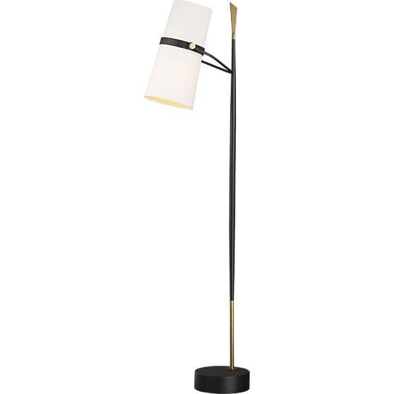 Riston Floor Lamp + Reviews   Crate and Barrel   Floor ... on Riston Floor Lamp  id=55466