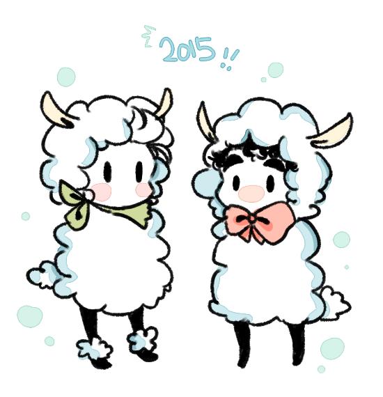 Happy New Year! (South Korea's New Year! 'u'!!)  The Year of 'sheep' in Chinese Zodiac.   Happy Klaine Year (۶•̀ᴗ•́)۶(۶•̀ᴗ•́)۶