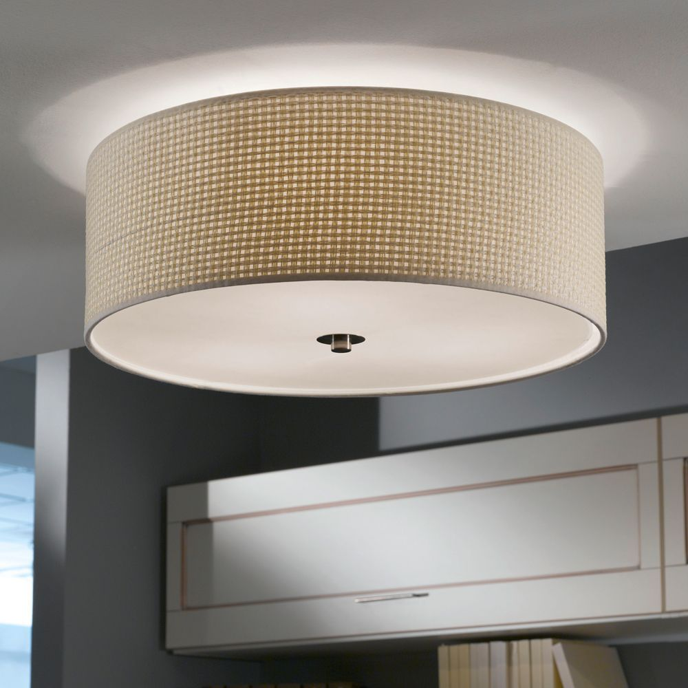 The Kalunga Ceiling Light is a natural coloured light which would suit any  room  It. Eglo Kalunga Fabric Ceiling Light   Light bedroom  Pendant