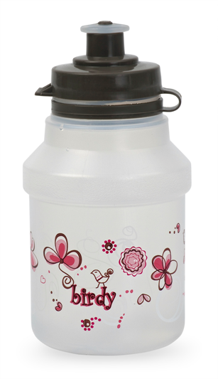 Kids Bottle Birdy - Soft push-pull tip. Regular Hi-Flow of liquid . Ergonomic grip. We don't recommend heating the bottle in a microwave since contents can heat unevenly. We only recommend putting warm liquids in the Kids bottles. Complies with food contact regulations.