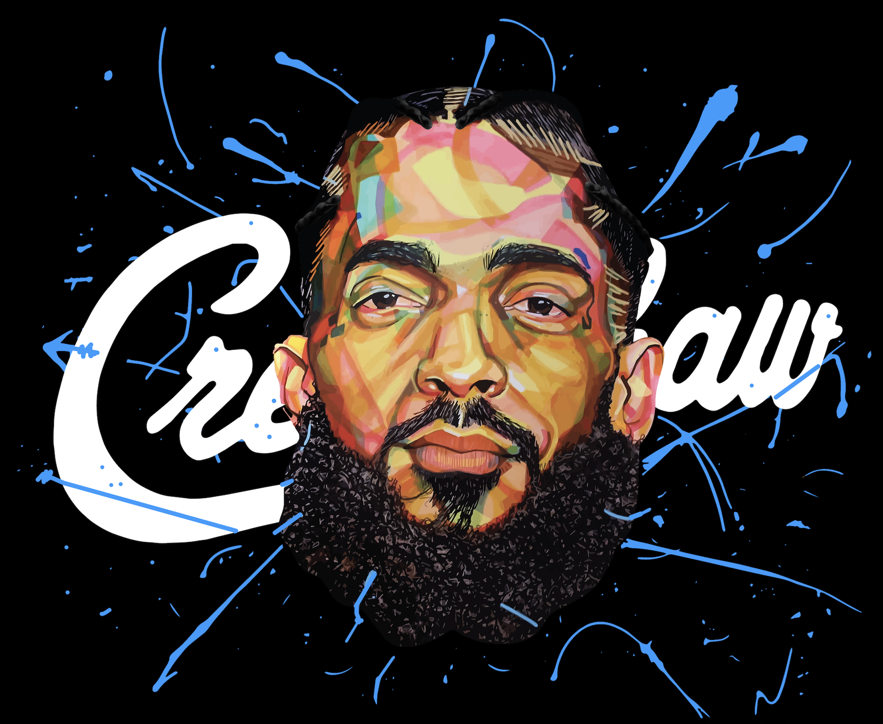 Tribute Art Piece Of the Late Nipsey Hussle. 22x28 on