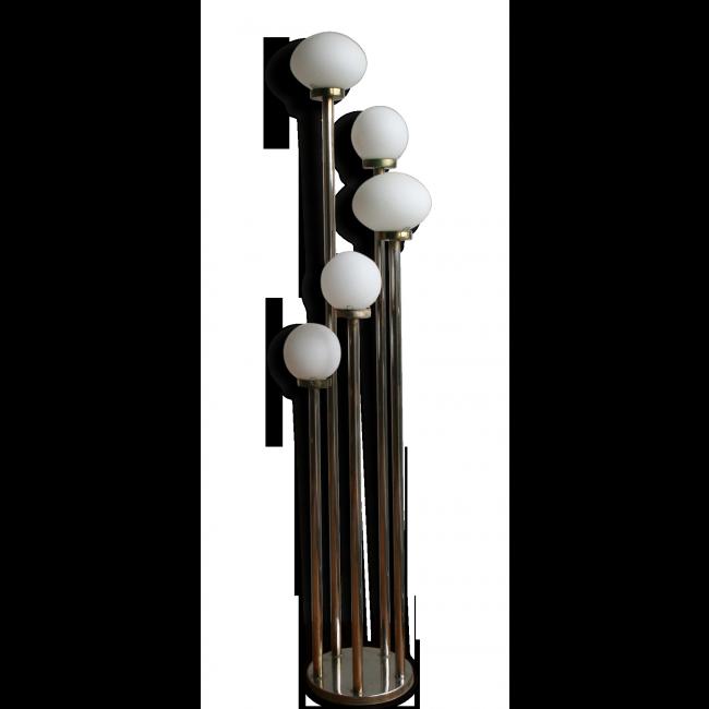 lampadaire 5 branches des ann es 1970 vendu par l 39 objet rare design nantes 44 loire. Black Bedroom Furniture Sets. Home Design Ideas