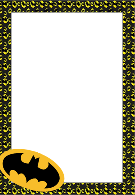 Free Printable Batman Invitations Cards Or Labels Tyson 1st Bday
