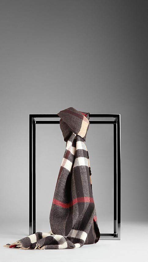 93e4318e4c1 Reversible Check Wool Scarf