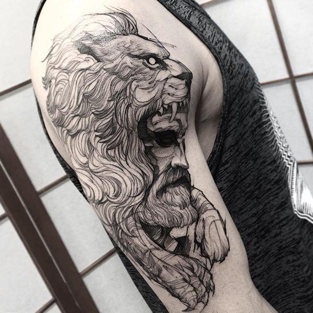 Hercules Feito Na Inkonik Tattoo Studio Electricink Hercules Tattoo Greek Tattoos Mythology Tattoos