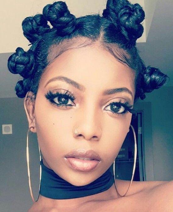 pin bantu knots hairstyles