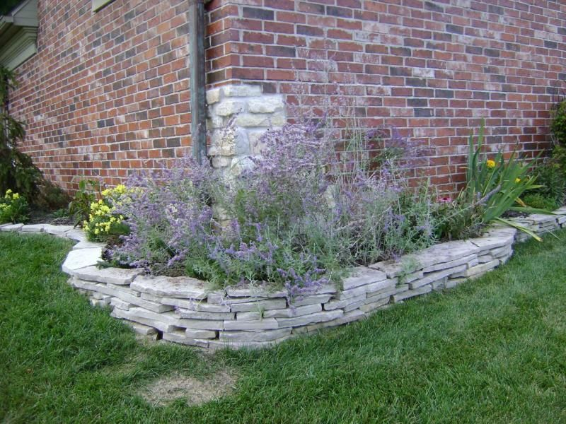 Landscaping Rock Border : Stone walls landscaping mo retaining keystone legacy block versa lok