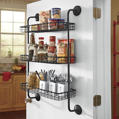 3 Tier Hanging Wall Pantry, Kitchen Pantry Hanging Rack