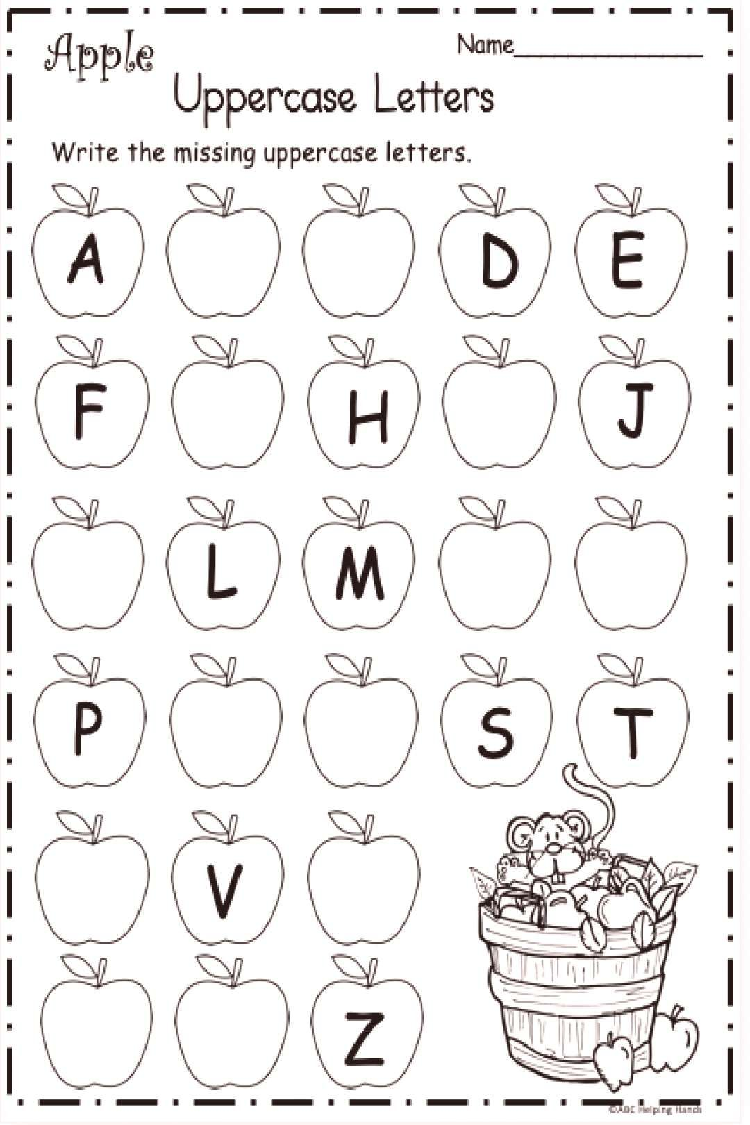 Free Kindergarten Letter Writing Worksheet For Fall Em