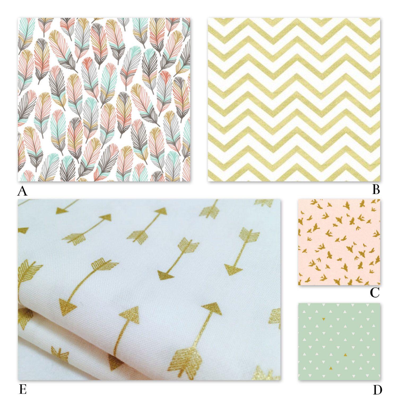 Emma iron crib for sale - Crib Nursery Bedding Girl Woodland Peach Coral Mint And Metallic Gold Nursery Bedding For