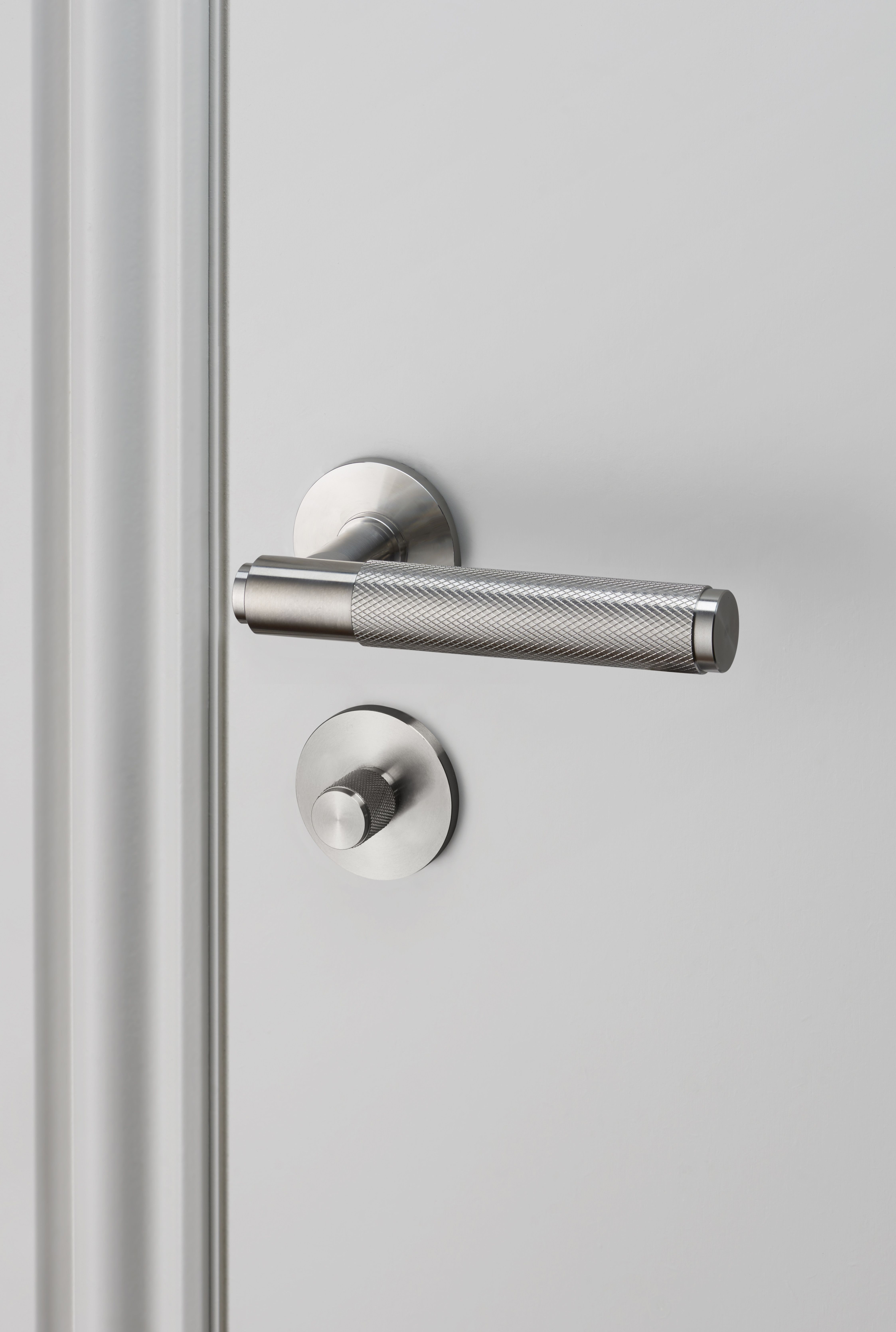 DOOR LEVER HANDLE / STEEL And THUMBTURN LOCK / STEEL By Buster + Punch.